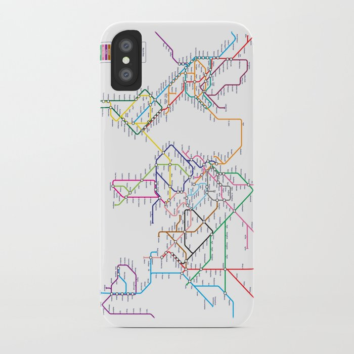 World Metro Subway Map Iphone Case By Artpause Society6