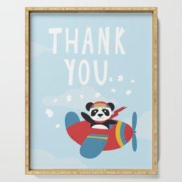 Panda says Thanks! Serving Tray