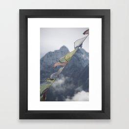 peaks and prayers Framed Art Print