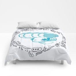 """""""Eternal Meh""""(teal)  Comforters"""