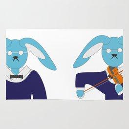 Blue hare violinist Rug