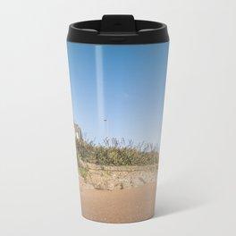 Sandy beach in Ireland Travel Mug