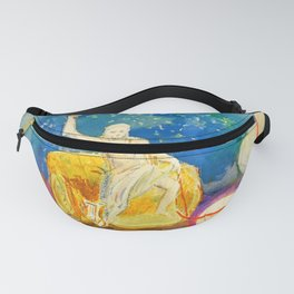 "Odilon Redon ""Apollo riding a green monster (Apollon chevauchant un monstre vert)"" Fanny Pack"
