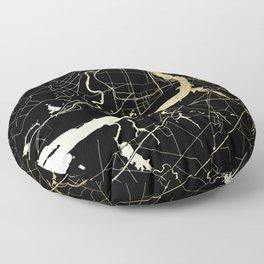 Philadelphia - Black and Gold Floor Pillow