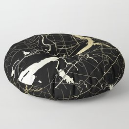 Philadelphia - Black and Gold Floor Pillow