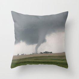 Field Tornado  Throw Pillow