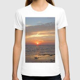 Watercolor Sunset, Janes Island 09, Maryland T-shirt