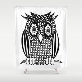 Hypnotise Owl Shower Curtain
