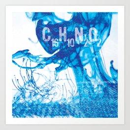 INDIGO - C16H10N2O2 Art Print