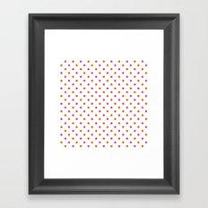 Fun Dots pink orange Framed Art Print