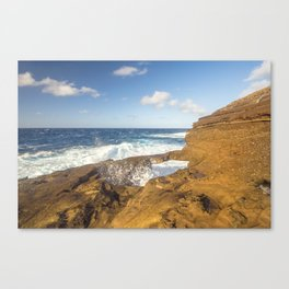 Hawaiian Sunrise Splash Canvas Print