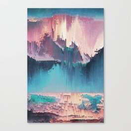 Glitched Landscapes Collection #3 Canvas Print