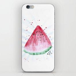 Watermelon summer watercolor illustration, food illustration, fruit iPhone Skin