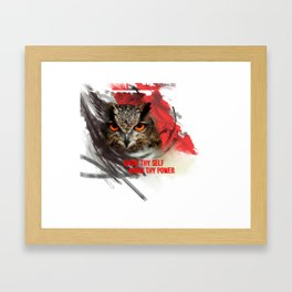 KNOW THY SELF Framed Art Print
