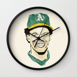 "Rickey ""The Man of Steal"" Henderson Wall Clock"