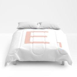 Pink Scrabble Letter E - Scrabble Tile Art Comforters