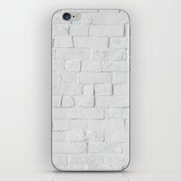 White Brick iPhone Skin