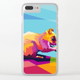 Squirrel Colorfull Clear iPhone Case