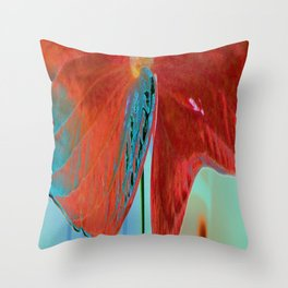 ABSTRACT FLORAL LANDSCAPE Throw Pillow