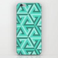 lv iPhone & iPod Skins featuring Geometrix LV by Harvey Warwick