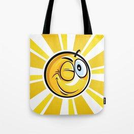 Blinking Smiley Tote Bag