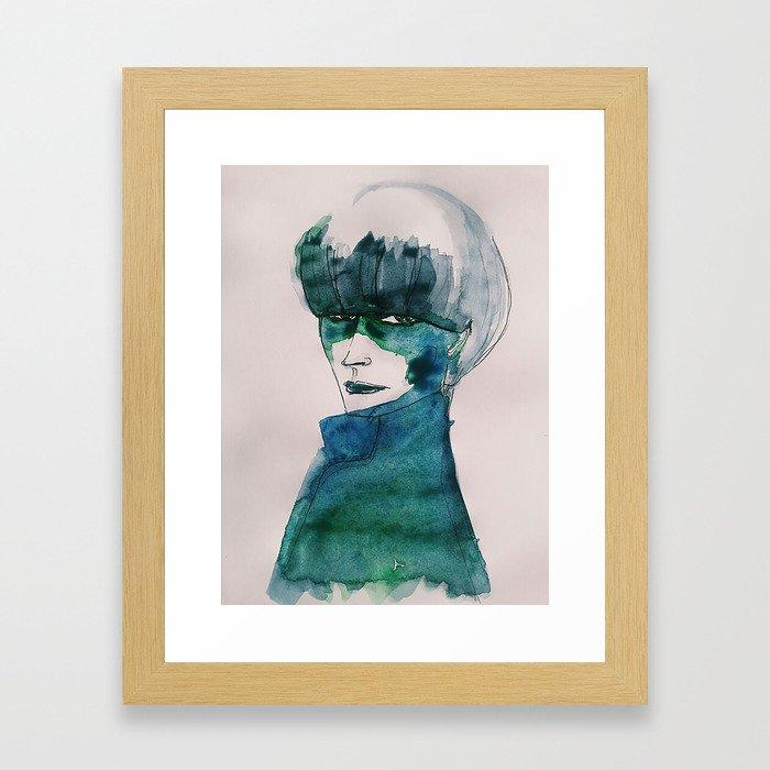 Blue-Green Skin Framed Art Print