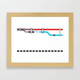 Transportation (Instructions and Code series) Framed Art Print