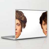 tegan and sara Laptop & iPad Skins featuring TEGAN AND SARA by MGNFQ