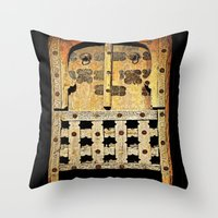 door Throw Pillows featuring Door by Saundra Myles