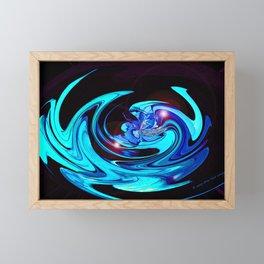 """""""Cut Blue Diamond""""  Framed Mini Art Print"""