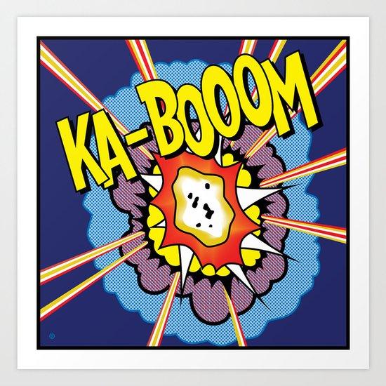 Ka Boom Pop Art Art Print