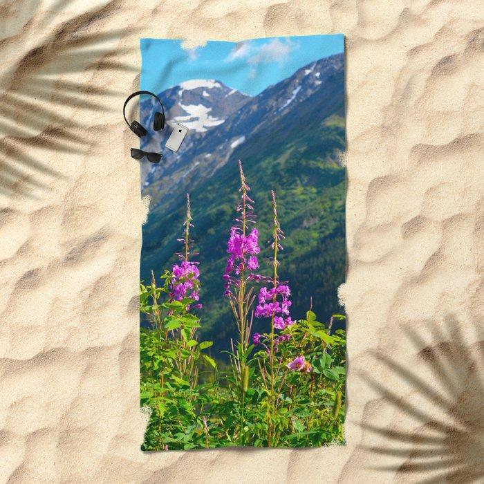 Fireweed ~ Mid-Summer Beach Towel