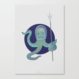 Lil Alien - Squiddy  Canvas Print