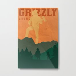 Grizzly Poster Metal Print