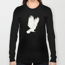 Dove in White Long Sleeve T-shirt