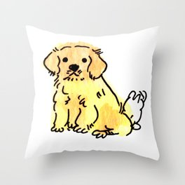 Butters - Puppy Watercolour Throw Pillow