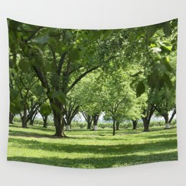 Peach and Pecan Orchard Wall Tapestry