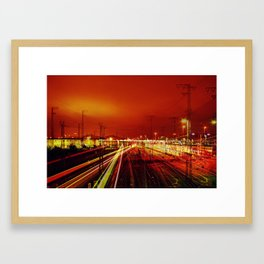 Night Train Framed Art Print