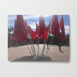 Moroccan Flags Metal Print