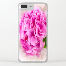 Vintage Pink Hydrangea Clear iPhone Case
