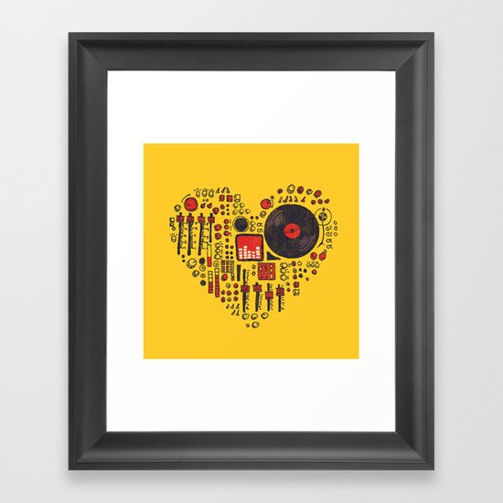Music in every heartbeat Framed Art Print