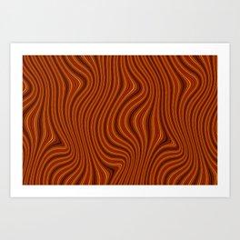 Amber Lava 5 Hi Res Art Print