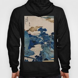 Cottages On Cliffs Traditional Japanese Landscape Hoody
