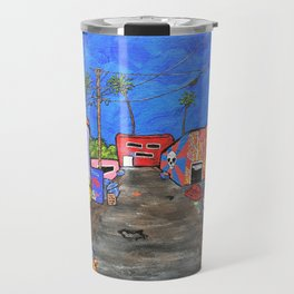 Los Angeles Alley by Mike Kraus- LA art street graffiti socal california houses homes colorful decor Travel Mug