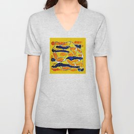 The Sun Also Rises. Society6. Watercolor. Abstract. Unisex V-Neck