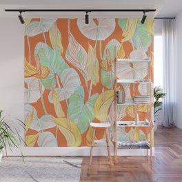 Lush Lily - orange zest Wall Mural