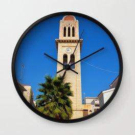 greek church tower Wall Clock