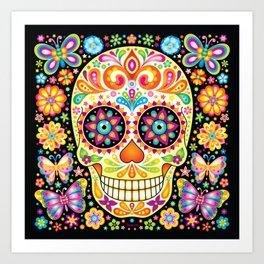 Día de Muertos Sugar Skull (Fiesta) Art Print