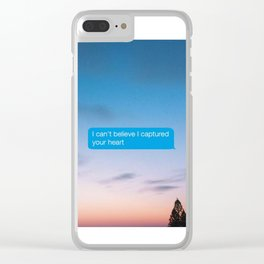 I Can't Believe Captured Your Heart Clear iPhone Case