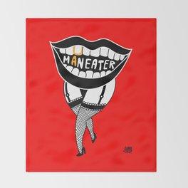 Maneater! - femme fatale crazy legs Throw Blanket